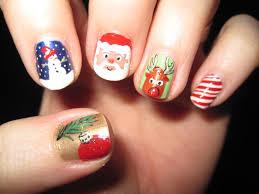 christmas finger nail designs images nail art designs