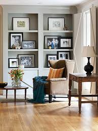 Accessorizing BuiltIns Sitting Rooms Shelves And Artwork - Family room shelving