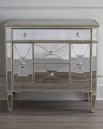 Mirrored Dressers And Nightstands Amelie Small Mirrored Chest