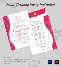 40 filipino debut invitations 18th birthday invitation quot