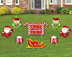christmas yard outdoor christmas decorations etsy