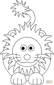 cartoon lion coloring page free printable coloring pages