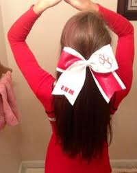 in hair bow cheer hair for non humid football halfway