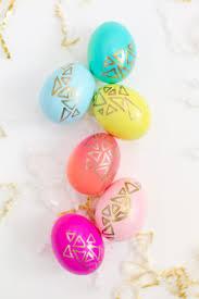 gold easter egg diy gold geometric easter eggs easter egg and gold
