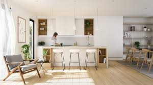 kitchen scandinavian kitchen features cabinet with exposed