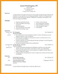sample pta resume 2 sample physical therapy resume