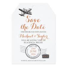 luggage tag save the date colombia map airmail luggage tag save the date card zazzle