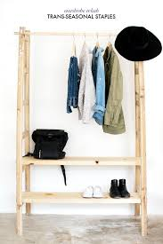 Free Standing Shelf Design by Keep Your Wardrobe In Check With Freestanding Clothing Racks