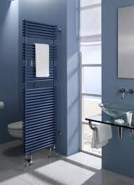 Bad Blau Bad Wände Blau Rauchblau Bodenfliesen Grau Waschtisch Glas