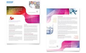 pharmacy datasheet word u0026 publisher template print