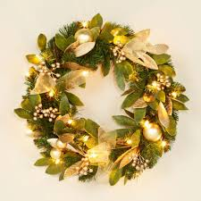 accessories fetching wall mounted green bayleaf round wreath