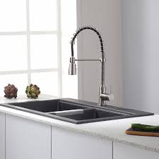 Stainless Steel Pull Down Kitchen Faucet by Kraus Kpf 1612ss Single Lever Pull Down Kitchen Faucet In