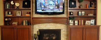 Fireplace Mantels With Bookcases The Wood Connection Cherry Bookcases And Fireplace Mantel The