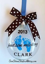 Custom Baby Ornaments Baby U0027s First Christmas Personalized Custom Christmas Ornament Boy