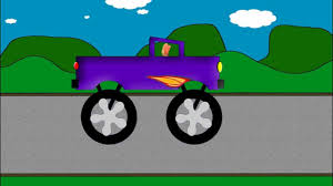 monster jam trucks videos monster truck word crusher part 2 purple monster truck youtube
