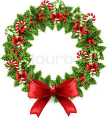 christmas holly and candy stock vector colourbox