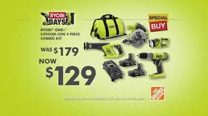 black friday specials 2016 home depot ryobi days sale at home depot youtube
