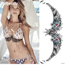 1pc chest stickers large flower shoulder arm sternum