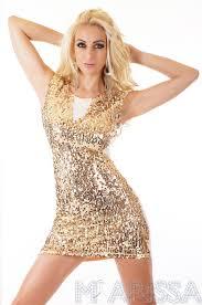 rochii de club rochie de seara mini dress gold marissa haine online dama