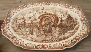 ceramic turkey platter knows antiques past appraisals johnson brothers