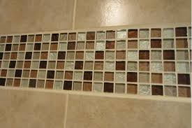 contemporary bathroom shower glass tile ideas design with