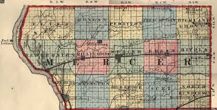 mercer map mercer county illinois maps and gazetteers