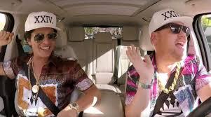 video bruno mars does u0027carpool karaoke u0027 with james corden