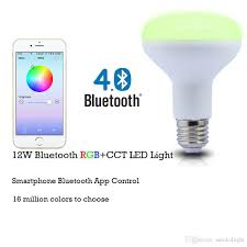 color changing flood light bulb bluetooth smart led flood light bulb smartphone controlled dimmable