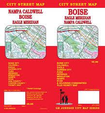 Map Of Boise Idaho Boise Caldwell Nampa Meridian Idaho Street Map Gm Johnson