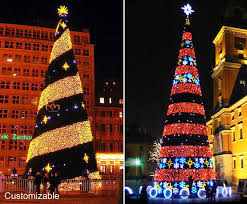 Large Metal Christmas Decorations by 2015 New Design Large Lighted Led Metal Frame Christmas Tree Buy