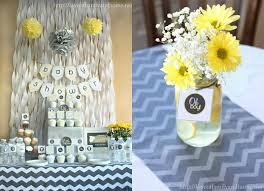yellow and gray baby shower decorations yellow and grey baby shower ideas so that s a wrap on the gray