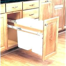 built in trash can cabinet under cabinet garbage can kitchen garbage can cabinet trash can