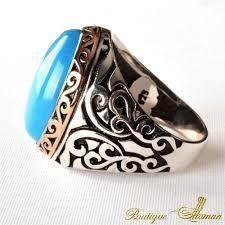 oval feroza stone silver ring boutique ottoman jewelry store