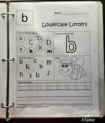 alphabet notebook for preschool and kindergarten simple living mama