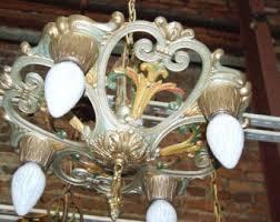 Rewire Light Fixture 1920s Lighting Etsy
