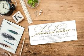 customized invitations simple script rehearsal dinner invitation with envelopes