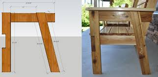 Plans For Picnic Table With Attached Benches by Free Patio Chair Plans How To Build A Double Chair Bench With Table