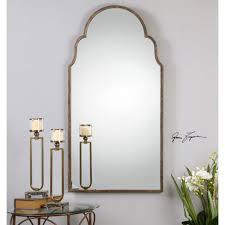 Wayfair Bathroom Mirrors - arch crowned top mirrors wayfair gold full length mirror gold