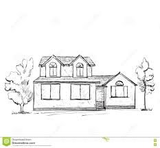 house drawing drawn building sketch pencil and in color drawn building sketch