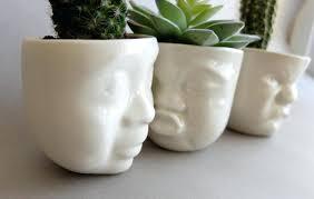 indoor ceramic plant pots ceramic succulent planter set small pot