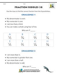 fractions for kids fraction riddles