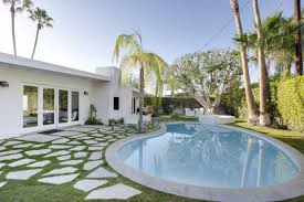 4br 3ba ultra modern palm springs house with pool ra88329