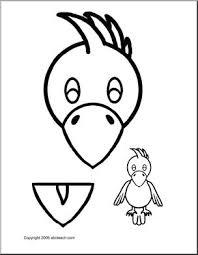 paper bag puppet animals parrot abcteach
