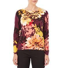 knitwear w lane floral print sweater w lane