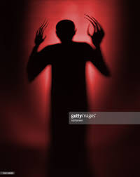 halloween red vampire silhouette or background stock photo getty