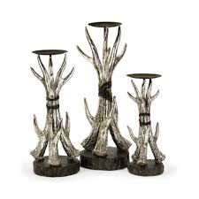 amazon com imax 52989 3 antler candle holders set of 3 home