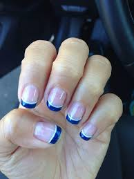 glittery blue french tip gel nails deb u0027s nails pinterest