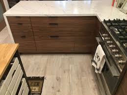 walnut doors from semihandmade give this ikea kitchen a mid