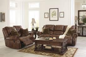 Full Living Room Set Living Room Ashley Furniture Roan Cocoa Reclining Living Room