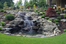 Backyard Hill Landscaping Ideas Triyae Com U003d Backyard Hill Waterfall Various Design Inspiration